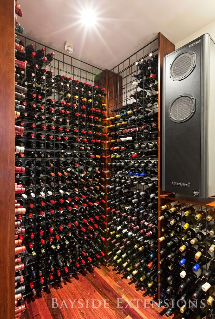 wine cellar filled with wines